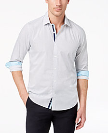 Ryan Seacrest Distinction™ Men's Slim-Fit Geo-Print Shirt, Created for Macy's