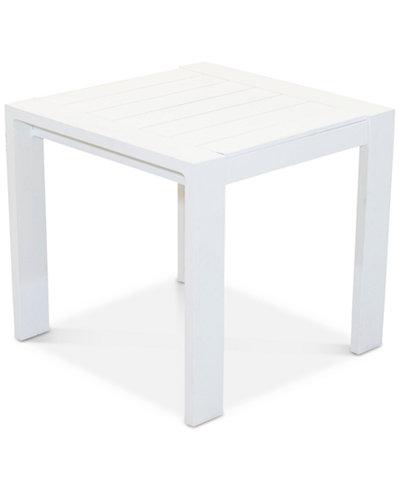 Aruba White Aluminum End Table, Created for Macy's