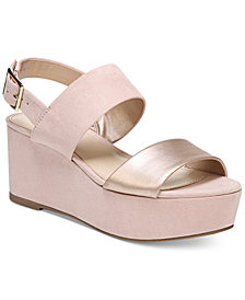 Bar III Dalenna Platform Wedge Sandals, Created for Macy's