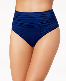 Lauren Ralph Lauren High-Waist Tummy-Control Bikini Bottoms