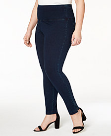 Lysse Women's Plus Size Denim Skinny Leggings