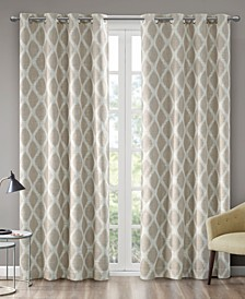 Blakesly Textured Ogee Ikat-Print Blackout Window Panels