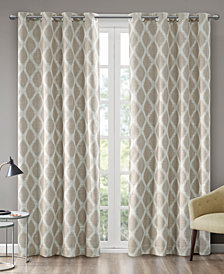 SunSmart Blakesly Textured Ogee Ikat-Print Blackout Window Panels