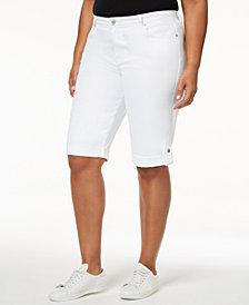 Style & Co Plus Size Denim Shorts, Created for Macy's