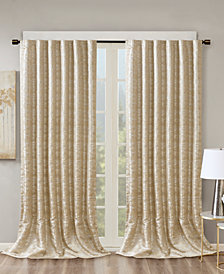 "SunSmart Cassius 50"" x 108"" Marble Jacquard Total Blackout Window Panel"