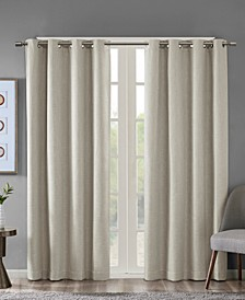 Maya Printed Heathered Blackout Curtain Collection