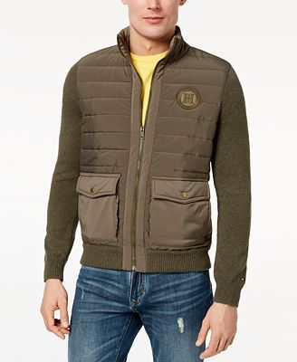 Tommy Hilfiger Men's Monument Quilted Sweater Jacket, Created for Macy's