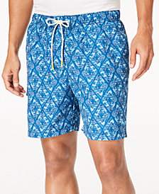 "Tommy Bahama Men's Naples Deepwater Diamond-Print Twill 6"" Swim Trunks"