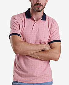 Barbour Men's Light Pink Polka Dot-Print Piqué Polo