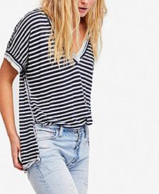 Free People Take Me Striped Contrast T-Shirt