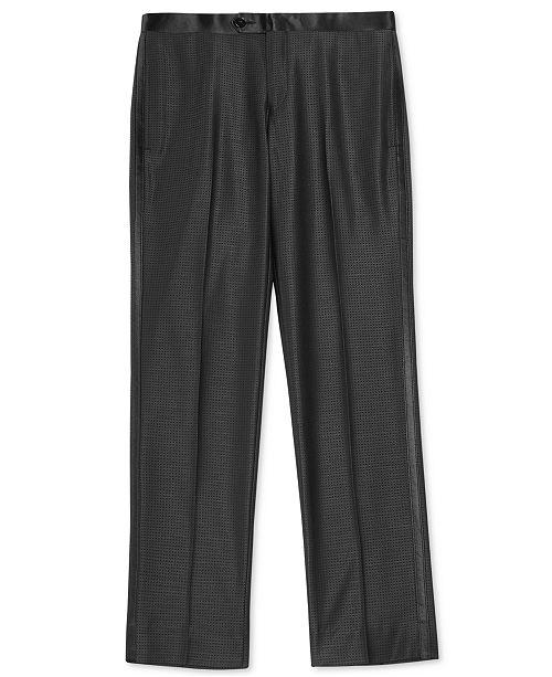 DKNY Black Dot Tuxedo Pants, Big Boys