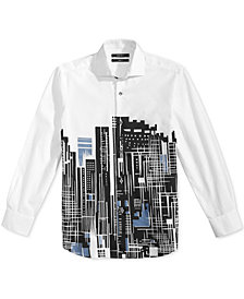 DKNY City-Print Shirt, Big Boys