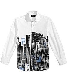 DKNY City-Print Shirt, Big Boys