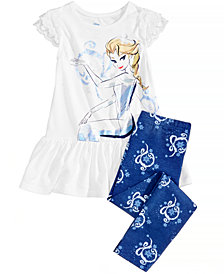 Disney's Frozen Princess Elsa 2-Pc. Graphic-Print Peplum Top & Leggings Set, Toddler Girls (2T-4T)