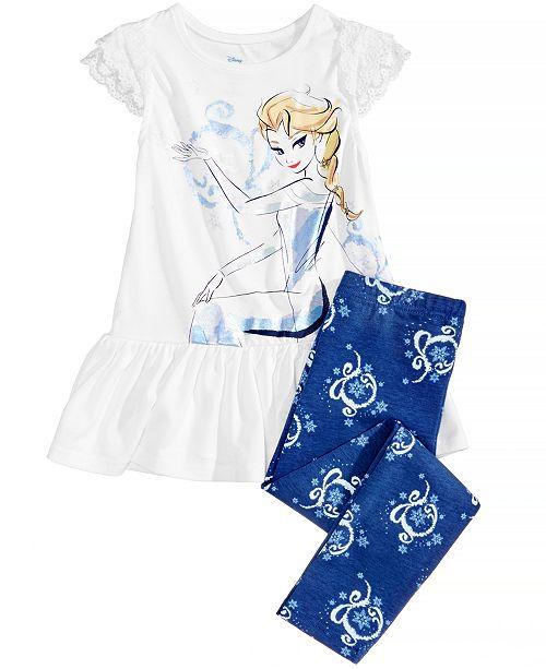 941b3f7365bd Disney Frozen Princess Elsa 2-Pc. Graphic-Print Peplum Top ...