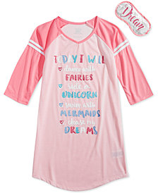 Max & Olivia Graphic-Print Nightgown, Little & Big Girls