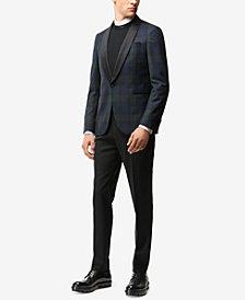BOSS Men's Slim-Fit Windowpane Virgin Wool Sport Coat