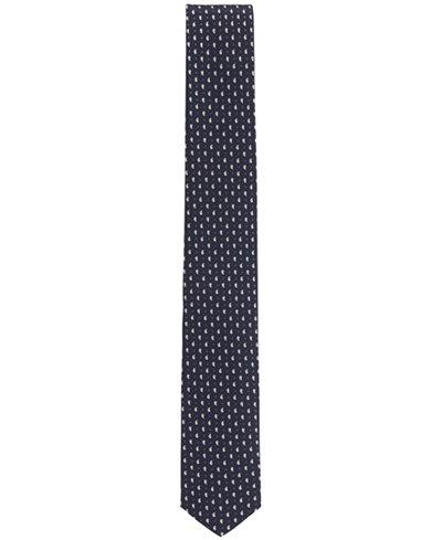 BOSS Men's Slim Traveler Paisley-Dot Italian Silk Tie