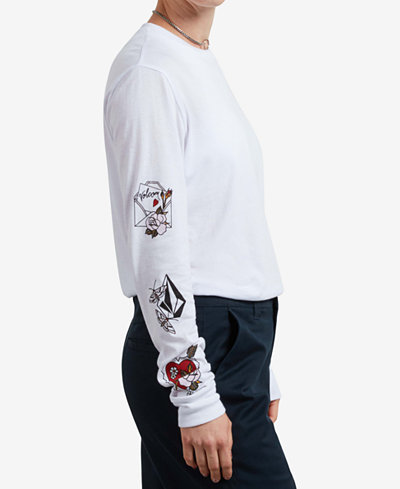 Volcom Juniors' Long-Sleeved Ink Graphic T-Shirt