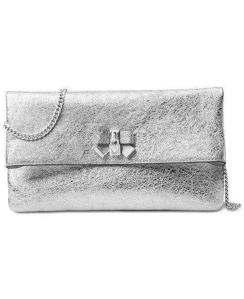 8f93fb4dcfd1 Michael Kors Everly Small Fold Over Clutch   Reviews - Handbags ...