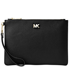 MICHAEL Michael Kors Pebble Leather Zip Pouch Wristlet