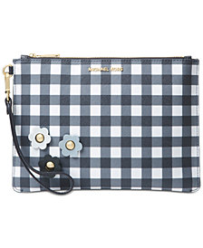 MICHAEL Michael Kors Gingham Medium Zip Pouch, Created for Macy's