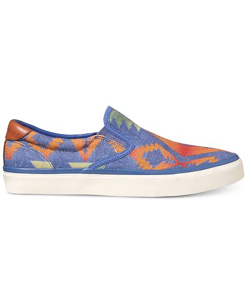 Polo Ralph Lauren Thompson (Blue Multi) Mens Shoes Where To Buy Low Price Authentic For Sale Low Shipping For Sale Sale Outlet fAKTWfZ
