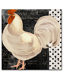 """Color Bakery 'White Rooster Cafe II' 18"""" x 18"""" Canvas Print"""