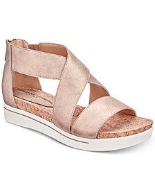 Adrienne Vittadini Claud Sport Flatform Sandals