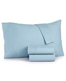 Bari 350 Thread Count 4-Pc. Solid Queen Sheet Set