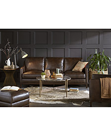 CLOSEOUT! Benita Leather Sofa Collection, Created for Macy's