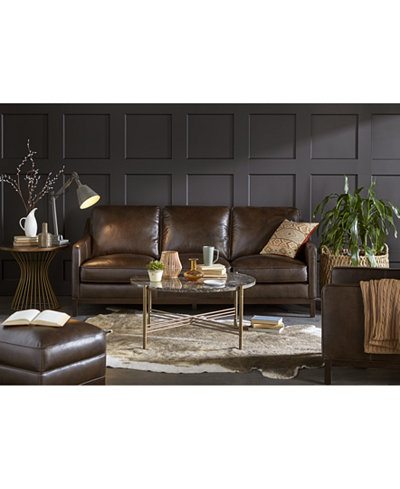Benita Leather Sofa Collection, Created for Macy's