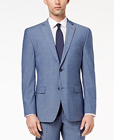 Men's Slim-Fit Performance Stretch Light Blue Suit Jacket, Created for Macy's