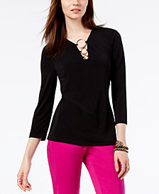 I.N.C. Petite O-Ring Top, Created for Macy's