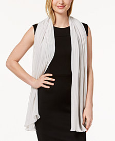 Betsey Johnson Solid Georgette Pleated Evening Wrap