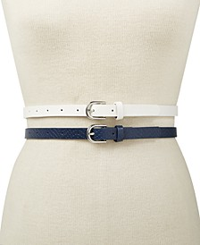 INC 2-for-1 Solid Belts, Created for Macy's