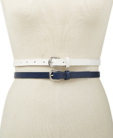 I.N.C. 2-for-1 Solid Belts, Created for Macy's