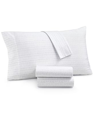 CLOSEOUT! Organic 3-Pc. Printed Twin Sheet Set, 300 Thread Count GOTS Certified, Created for Macy's