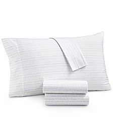 Organic 4-Pc. Printed California King Sheet Set, 300 Thread Count GOTS Certified, Created for Macy's
