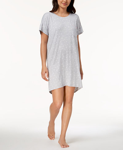 Ande Lush Luxe Lace-Pocket Printed Sleepshirt