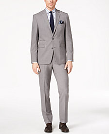 Vince Camuto Men's Slim-Fit Stretch Gray Solid Suit