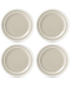 Image of Closeout! kate spade new york Sculpted Stripe 4-Pc. Dinner Plate Set