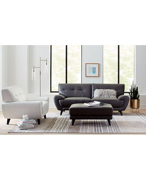 Furniture Lanz Leather Furniture Collection, Created For Macy\'s ...