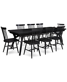 Bensen Dining Furniture, 9-Pc. Set (Expandable Dining Table & 8 Side Chairs), Created for Macy's