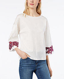 Weekend Max Mara Caserta Cotton Embroidered Top