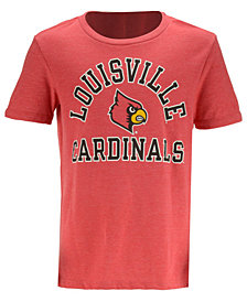 Retro Brand Louisville Cardinals Dual Blend T-Shirt, Big Boys (8-20)