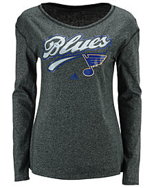 adidas Women's St. Louis Blues Pearlized Long Sleeve T-Shirt