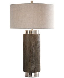 Uttermost Cheraw Wood Cylinder Table Lamp
