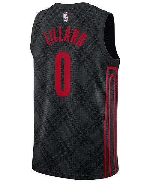competitive price a1e6a bf196 adidas Men's Damian Lillard Portland Trail Blazers City ...