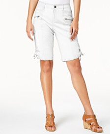 Style & Co Curvy-Fit Zipper Bermuda Shorts, Created for Macy's